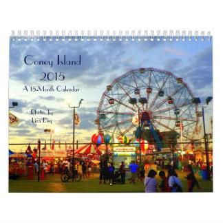 Calendario 2015 de Coney Island 15-Month