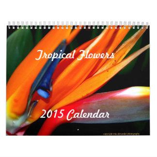 Calendario 2015 de flores