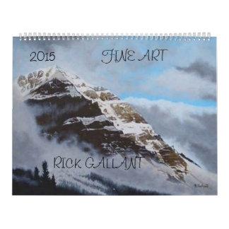 Calendario 2015 de la bella arte de Rick galante