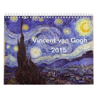 Calendario 2015 de la bella arte de Vincent van