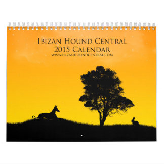 Calendario 2015 de la central del perro de Ibizan