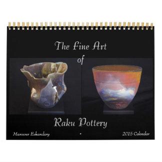 Calendario 2015 de la cerámica de Raku de la bella