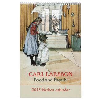 Calendario 2015 de la cocina de la comida y de la