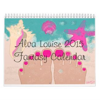 Calendario 2015 de la fantasía de Alva Louise