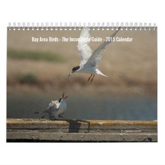 Calendario 2015 de la foto de los pájaros del área