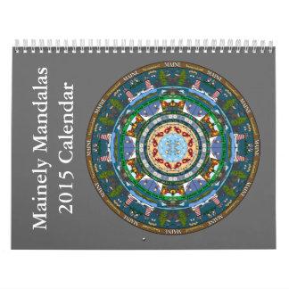 Calendario 2015 de la mandala del estado de Maine