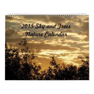 Calendario 2015 de la naturaleza Cielo y árboles
