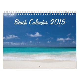 Calendario 2015 de la playa