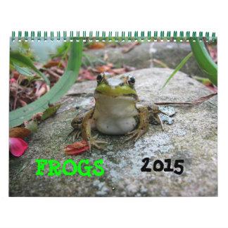 Calendario 2015 de la rana