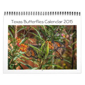 Calendario 2015 de las mariposas de Tejas