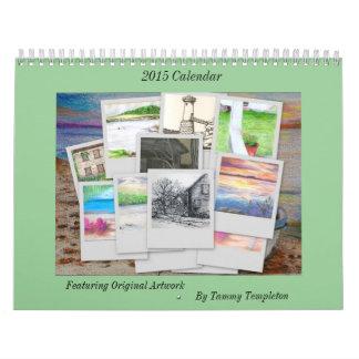 Calendario 2015 de Maine del artista local