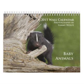 Calendario 2015 de pared de los animales del bebé