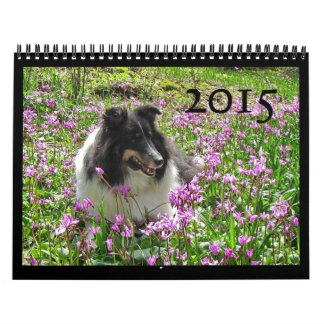 Calendario 2015 de Sheltie