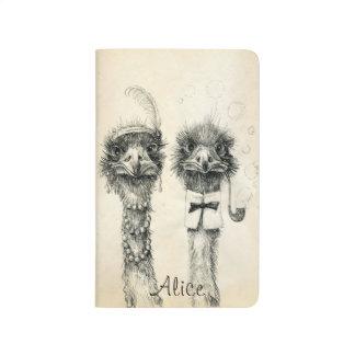 Calendario 2015 de Sr. y de señora Ostrich 2014 Cuaderno