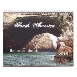 Calendario 2015 de Suramérica