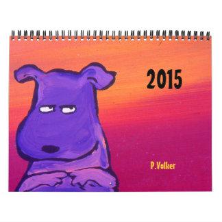 Calendario 2015 de Volker del vintage de P.Volker