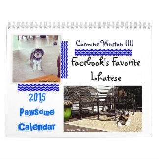 """Calendario 2015 de Winston III """"Pawsome """" del"""