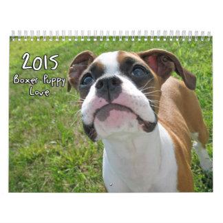 Calendario 2015 del amor adolescente del boxeador