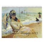 Calendario 2015 del arte de las mujeres de Monets