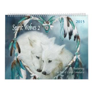 Calendario 2015 del arte de los lobos 2 del