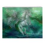 Calendario 2015 del arte de los unicornios