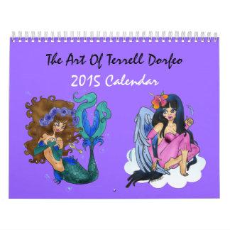 Calendario 2015 del arte de Terrell Dorfeo