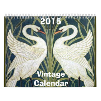 Calendario 2015 del arte del vintage