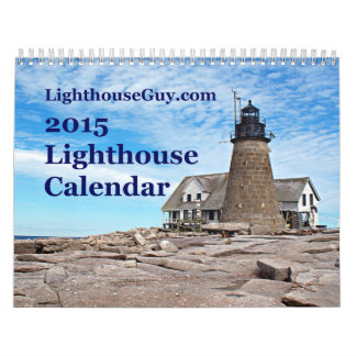 calendario 2015 del faro de LighthouseGuy.com
