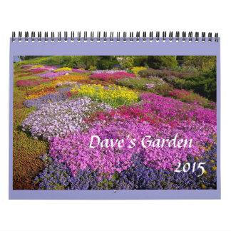 Calendario 2015 del jardín de Dave