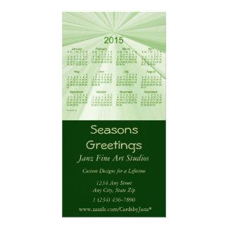 Calendario 2015 del negocio de los saludos de las tarjetas personales