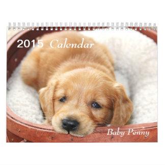 Calendario 2015 del penique del bebé