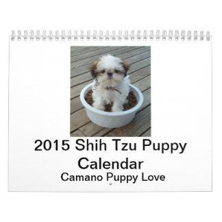 Calendario 2015 del perrito de Shih Tzu