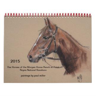 calendario 2015 del rancho del caballo de Morgan