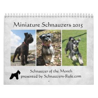 Calendario 2015 del Schnauzer