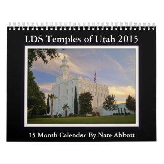 Calendario 2015 del templo de Utah calendario de