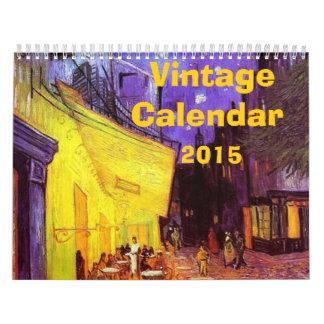 Calendario 2015 del vintage
