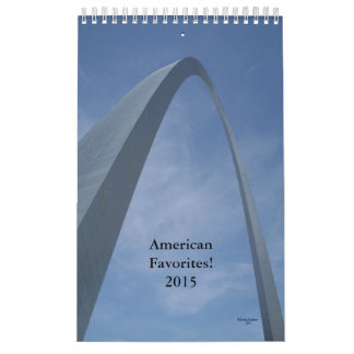 Calendario 2015. ¡Favoritos americanos!