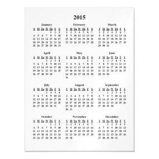Calendario 2015 invitaciones magnéticas