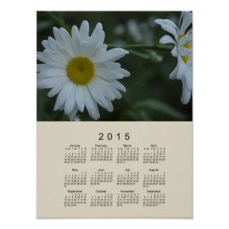 Calendario 2015 por el poster de la margarita de póster