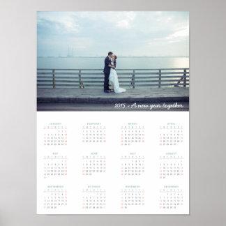 Calendario 2015: ¡Un Año Nuevo junto! Póster