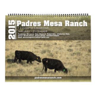 Calendario 2015 v1 del rancho del Mesa de Padres