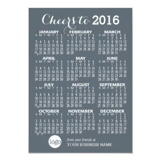 """Calendario 2016 con el nombre comercial y el invitación 5"""" x 7"""""""