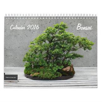 Calendario 2016 con los bonsais