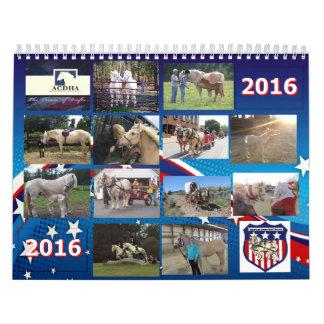 Calendario 2016 de ACDHA