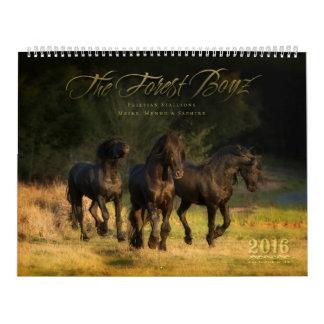 Calendario 2016 de Boyz del bosque