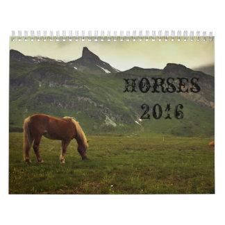 Calendario 2016 de caballos