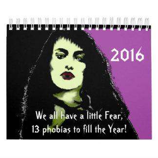 Calendario 2016 de fobias