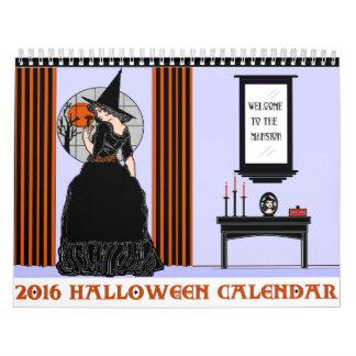 Calendario 2016 de Halloween