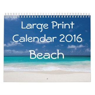 Calendario 2016 de la ampliación de foto - playa