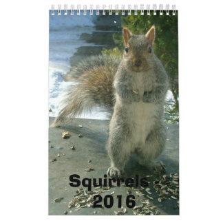 Calendario 2016 de la ardilla